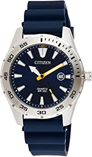 CITIZEN Mens Quartz Watch, Analog Display and PU Strap - BI1041-22L