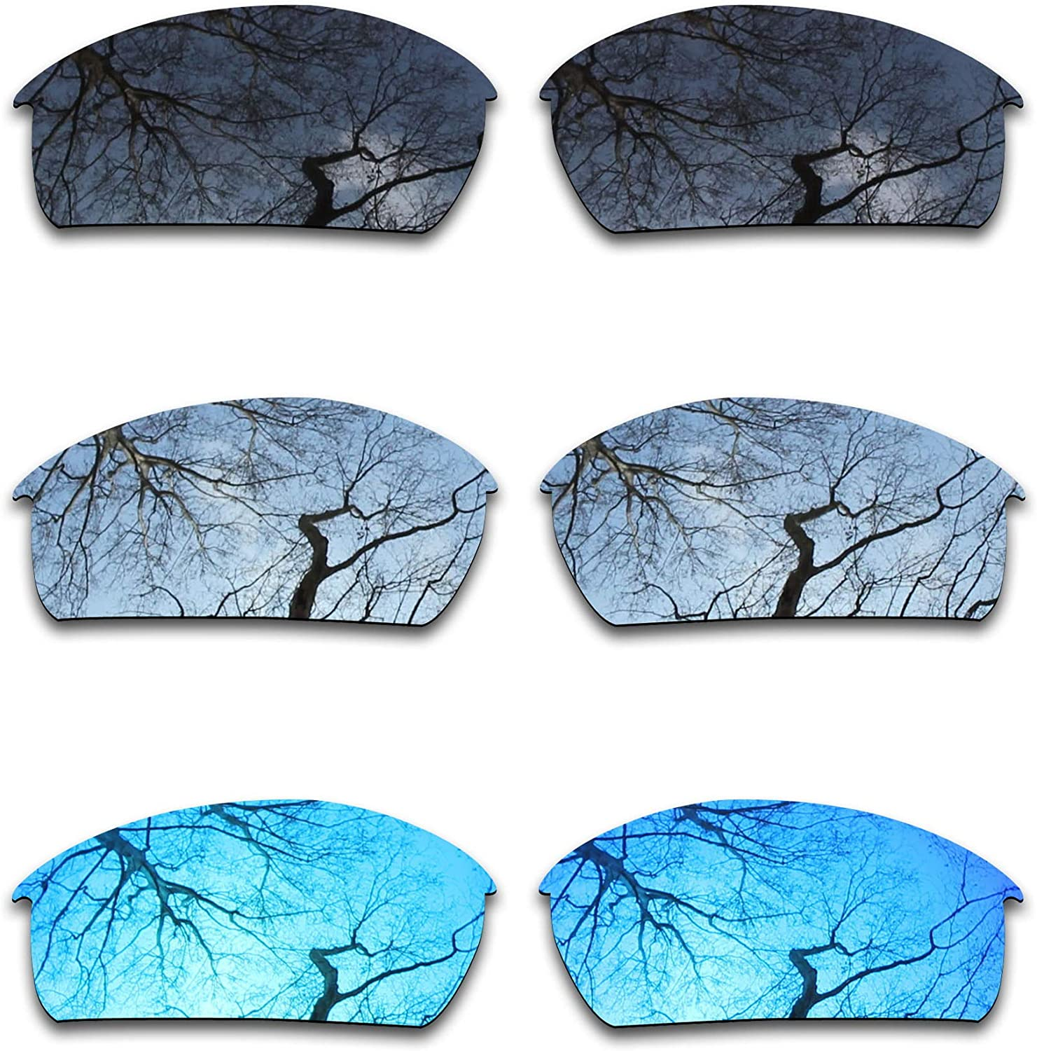 overseas ToughAsNails 3 Pair Polarized Max 77% OFF Replacement Bott for Oakley Lenses