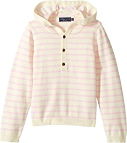 Cotton Cashmere Light Pink Henley Beach Hoodie (Infant/Toddler)