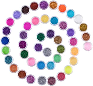 45 Colors Nail Art Glitter Powder Makeup, Mix Glitter Nail Art Multi Purpose Shimmer Dust Sequins Nail Art Kit for Nail Art Decoration