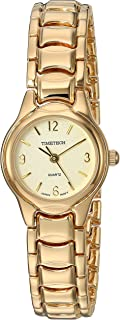 Viva Time Women's 'Timetech Panther Link' Quartz Metal and Stainless Steel Casual Watch, Color:Gold-Toned (Model: 2694L)