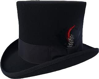 Elegant Men's Black Top Hat - 100% Wool