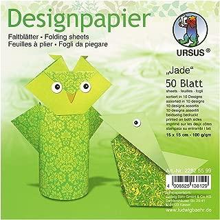 100 Fogli URSUS 3145190 Fogli Pieghevoli a Tinta Unita 65 g//mq per artisti di Origami Piccoli e Grandi 20 x 20 cm Colore: Nero Intenso