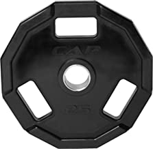 """CAP Barbell Olympic 2"""" 12 Sided Rubber Grip Plate (Single)"""