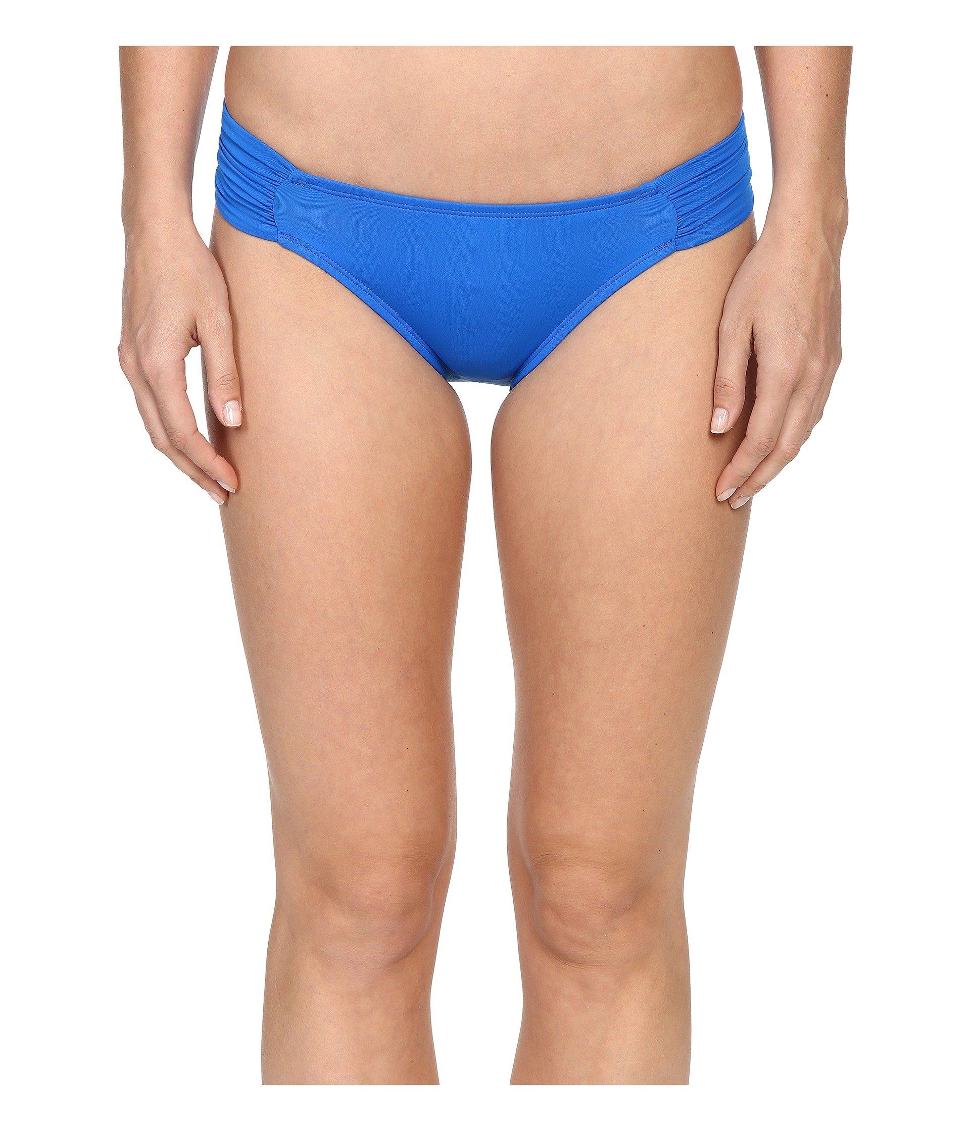 La Blanca Women's Island Goddess Side Shirred Hipster Bikini Bottom