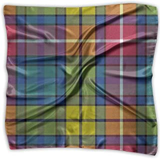 YILISA Handkerchiefs Scarf Buchanan Ancient Tartan Novelty Shawl Bandanas Multi-Function Party Gifts 23.6