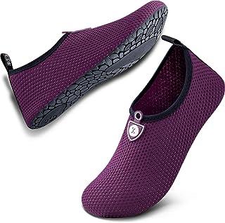 SIMARI Womens and Mens Water Shoes Quick-Dry Aqua Socks Barefoot for Outdoor Beach Swim Sports Yoga Snorkeling SWS002