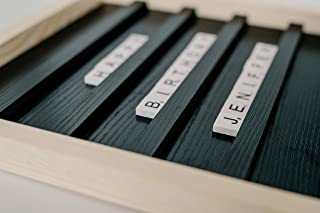 Scrabble Letter Board - Wood Letter Tile Rustic Sign Art - Farmhouse Style Letterboard Décor - Home or Office Decorations ...