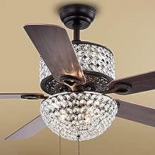 Warehouse of Tiffany CFL-8170BL Laure Crystal 6-Light 52-inch Ceiling Fan, 52