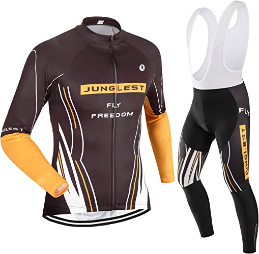 JUNGLEST Maillot de Cyclisme Homme Manches Longues Jersey(S5XL,Option Cuissard,3D Coussin) N34
