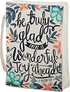 Creative Brands Faithworks Canvas Bible Book Cover, Be Truly Glad