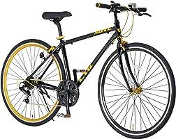 LIG(リグ) LIG MOVE クロスバイク 自転車 700C 7段変速 アルミフレーム カラーリム フロントクイックリリース