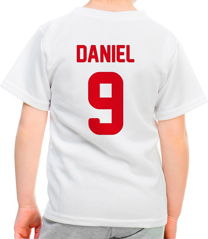 LolaPix Camiseta España Personalizada con tu Nombre y Dorsal | Selección Española | Varios Diseños Tallas | 100% Algodón | Niño | Blanca: Amazon.es: Hogar