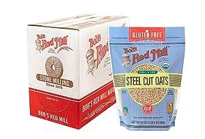 Bob's Red Mill Gluten Free Organic Steel Cut Oats, 24-ounce (Pack of 4)