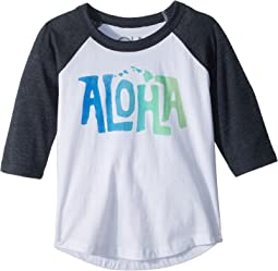 Chaser Kids - Vintage Jersey Aloha Raglan Tee (Toddler/Little Kids)