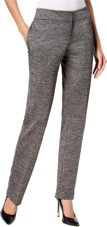 Kasper Virginia Beach Mall Women's Houndstooth-Print Pants Large-scale sale Straight-Leg
