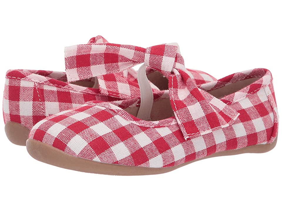 Livie & Luca Halley (Toddler/Little Kid) (Red Gingham) Girl