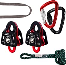 GM CLIMBING Hardware Kit for 5:1 Mechanical Advantage Pulley Hauling Dragging System Block and Tackle