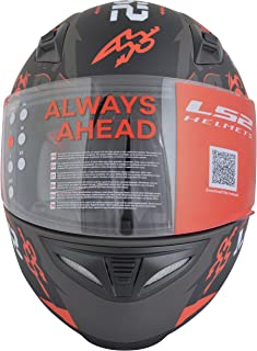 LS2 FF391 Full Face Helmet (Unisex, Red, L)