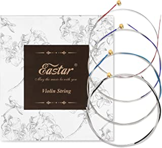 Eastar EVS-180A Violin String Set (G D A E) for 4/4 Violins, Steel Core Nickel Silver Wound, Practice Violin Strings Suitable for Students, Beginners and Advanced Players