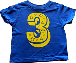 number 3 birthday shirt