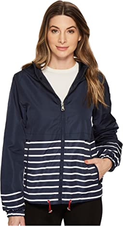 Vince Camuto - Hooded Short Parka with Contrast Stripes