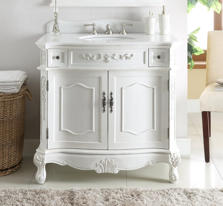 Buy 36 Tradition Antique White Fairmont Bathroom Sink Vanity Model Bc 3905w Aw 36 Online In Indonesia B00v3ke56q