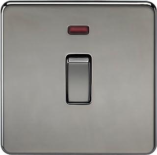 Knightsbridge SF8341NBN Screwless 20 A 1-Gang DP Switch, 230 V, Black Nickel