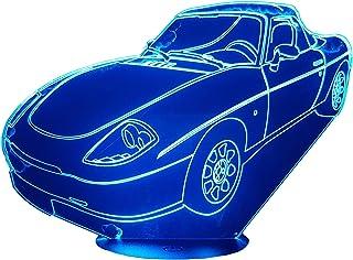 FIAT BARCHETTA (1995-2000), Lampada illusione 3D con LED - 7 colori.