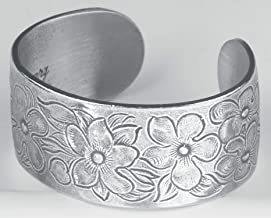Pewter Flower of The Month Bracelet - Feb