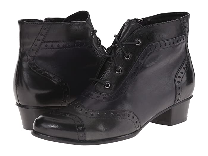 Vintage Boots, Granny Boots, Retro Boots Spring Step Heroic Black Womens Shoes $179.95 AT vintagedancer.com