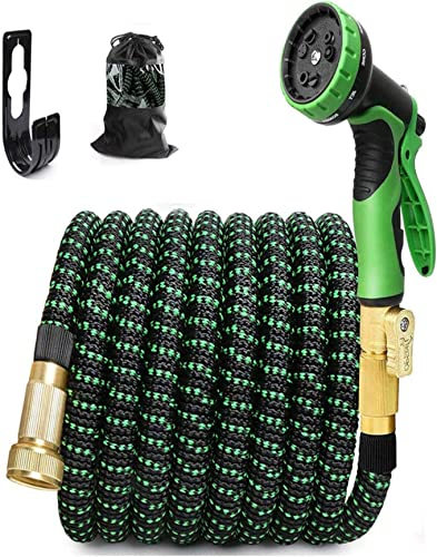 2021 labworkauto Expandable Garden Hose sale with 9 Function Spray Nozzle, Expanding 2021 Hose Pipe Set Flexible Garden Hose 3X Flexible 3/4 Solid Brass Fittings online sale