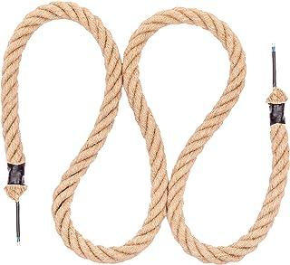 Seilwerk STANKE Cuerda de yute 25 mm con cable eléctrico 2x0,75 para lámpara de techo, lámpara colgante, lámpara retro, longitud 20 m