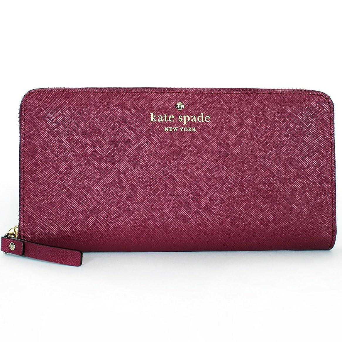 役に立つ有害スクランブルケイトスペード 長財布 Mikas Pond Lacey(red plum) KateSpade【アウトレット】【並行輸入品】