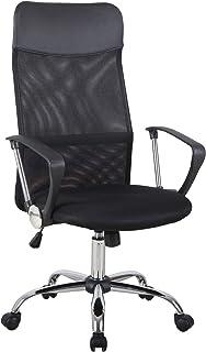 Fauteuil de bureau manager grand confort dossier ergonomique hauteur assise réglable pivotant tissu maille noir