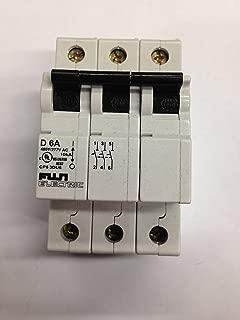 Fuji Electric, CP63DU6, Circuit Breaker, 6A, 3 Pole, D Curve