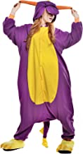 NEWCOSPLAY Unisex Adult Animal Purple Dragon Pajamas Halloween Costume