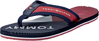 TOMMY HILFIGER Men's Tommy Logo Massage Foot Bed Beach Sandal Trainers