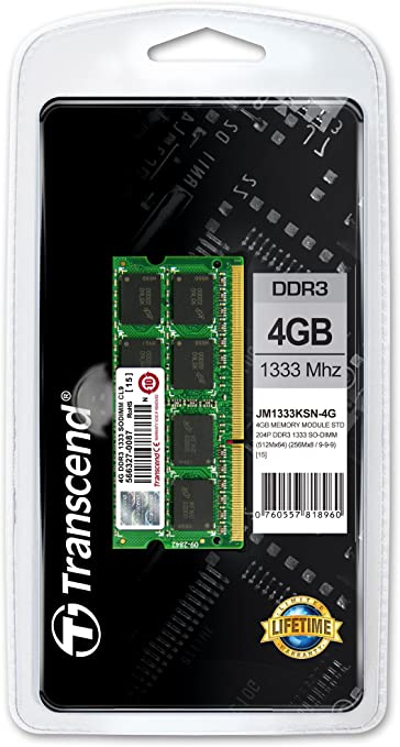 Transcend Internal Memory Jm Ddr3 Pc1333 So Dimm 4 Gb Computers Accessories
