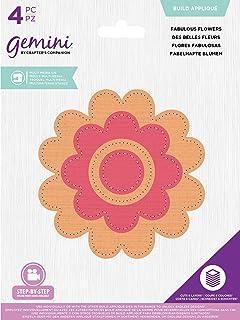 Crafter's Companion Gemini Multi Media Matrice de découpe en métal Appliqué-Fabulous Flowers Bronze Taille unique