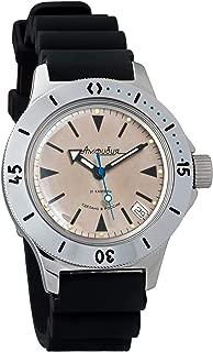 Vostok Amphibian Automatic Mens Wristwatch Self-Winding Military Diver Amphibia Case Wrist Watch #120849