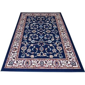 Advanced-1 Style Persan Grande Surface Tapis Haute qualit/é Abstrait Floral Bleu Art Tapis Salon Chambre antid/érapant Tapis de Sol Cuisine tapisserie-60/_ /× /_90/_cm