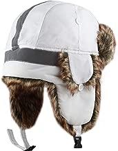 The Hat Depot Safety Reflective Faux Fur Aviator Kids Adult Trapper Hat Snow Ski Trooper Winter Cap