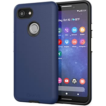 Pixel 3 Case, Crave Dual Guard Protection Series Case for Google Pixel 3 - Navy