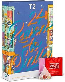 T2 Tea 24 Reasons to Smile: Tea Bag Advent Calendar for Christmas 2021, Countdown to Christmas, 24 Assorted Teabag Sachet...