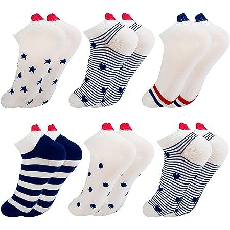 COSYOO Womens Heart Socks funny Trainer Socks Womens 4-7 Cotton Ankle Socks