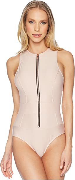 Feeling Fine Malibu Zip One-Piece