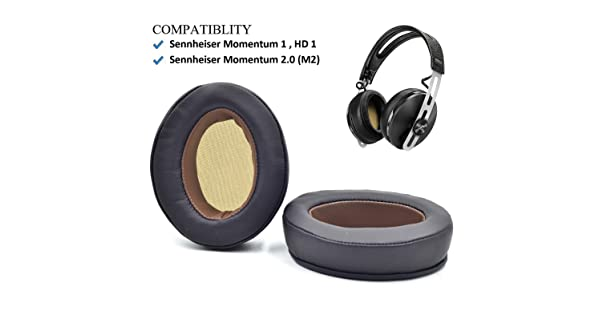 Headphones Repair Parts Earmuff Earpads Cup Pillow Cover Black, Straight misodiko Replacement Angled Cushions Ear Pads for Sennheiser Momentum 1.0 M1 Over-Ear