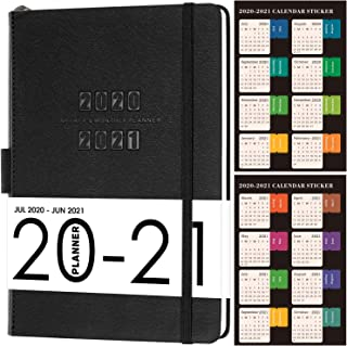 "2020-2021 Planner-Academic Weekly and Monthly Planner, 5.75 ""x 8.25"", Thick Paper with Saffiano Leather, Back Pocket with 88 Notes Pages"