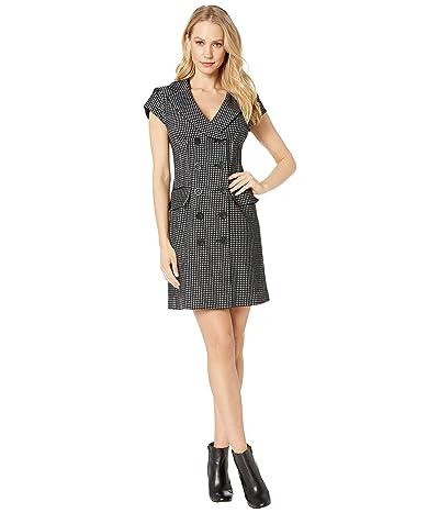 Nanette Lepore Coat Dress (Black Multi) Women